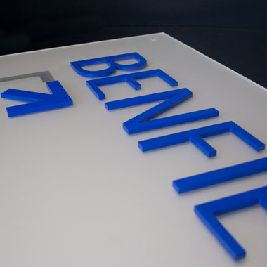 custom cut acrylic sign partner With custom cut acrylic letters